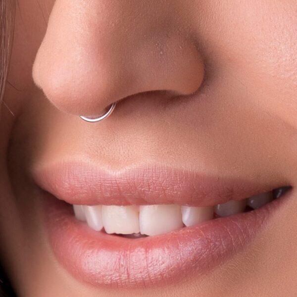 Silver Fake Nose Piercing Hoop