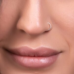 Silver 20 Gauge Fake Nose Piercing Hoop