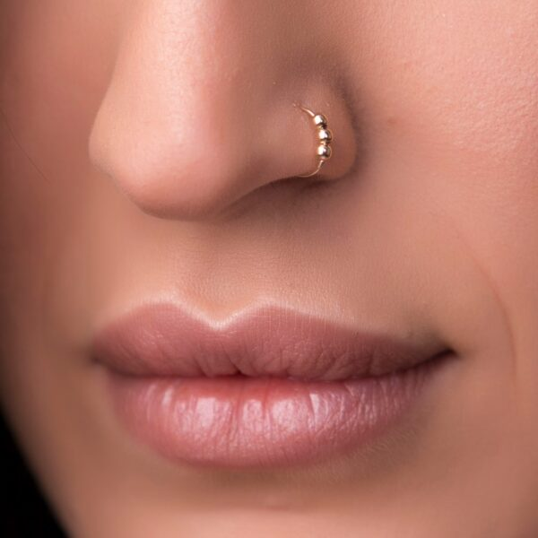 14K Gold Small Nose Hoop